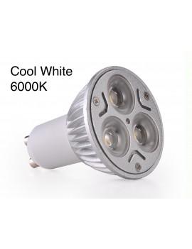 3x3Watt GU10 LED - Cool White